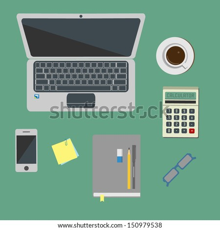 workspace - stock vector