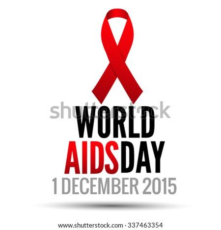 World AIDS Day 1 december 2015. Vector EPS 10 illustration. - stock vector
