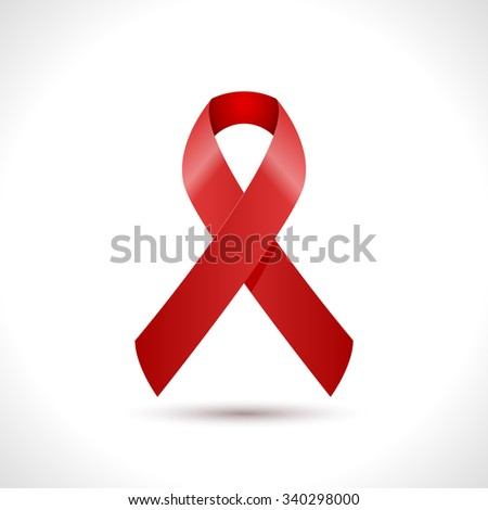 World AIDS Day Ribbon Icon design. AIDS Hope Ribbon. Vector illustration. - stock vector