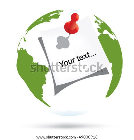 world and sticker - stock vector