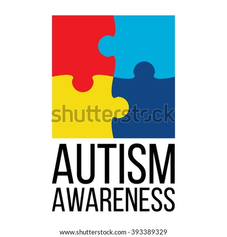 World autism awareness day card poster stock vector 393389329 world autism awareness day card or poster template with symbol of autism emblem made toneelgroepblik Choice Image