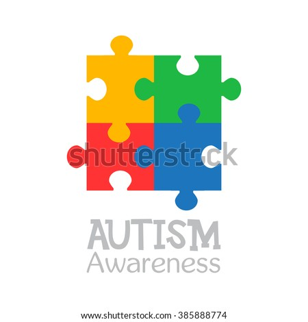 World autism awareness day. Colorful puzzle vector design sign. Symbol of autism. Medical flat illustration. Health care  - stock vector