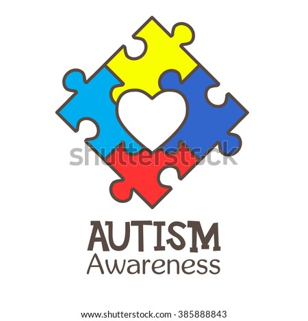 World Autism Awareness Day Colorful Puzzle Stock Vector Hd Royalty