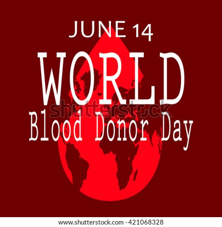World blood donor day isolated red.vector - stock vector