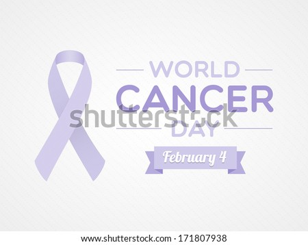 World Cancer Day - stock vector