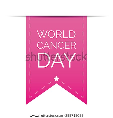 World Cancer Day ribbon - stock vector