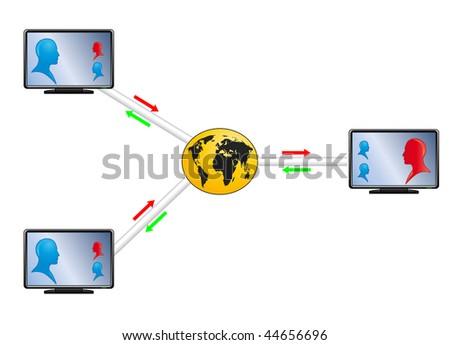 World communication - stock vector