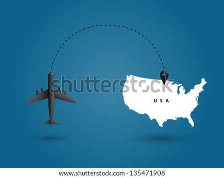 World communication on blue background. Vector illustration.