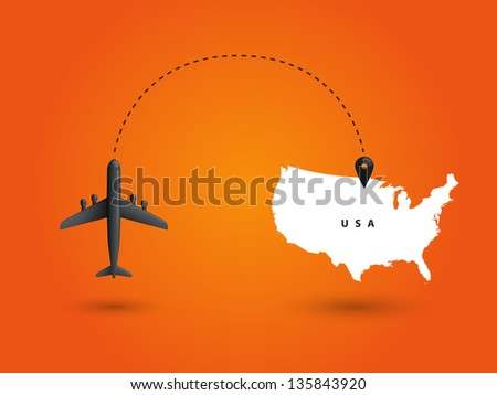World communication on orange background. Vector illustration.