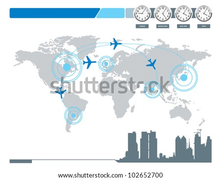 World connection. - stock vector