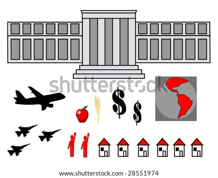 World Crisis vector graphic illustrations - stock vector