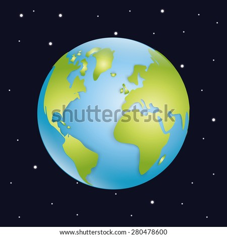 World design over black background, vector illustration.