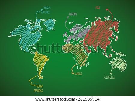 World design over green background, vector illustration. - stock vector