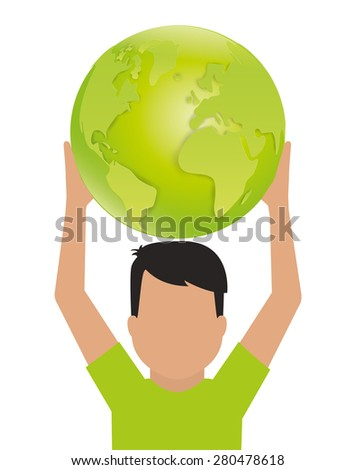 World design over white background, vector illustration.