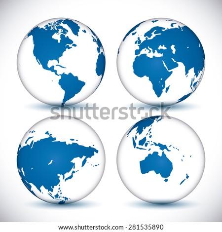 World design over white background, vector illustration. - stock vector