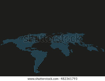 World dotted map vector background asymmetric stock vector 482361793 world dotted map vector background asymmetric perspective view gumiabroncs Choice Image
