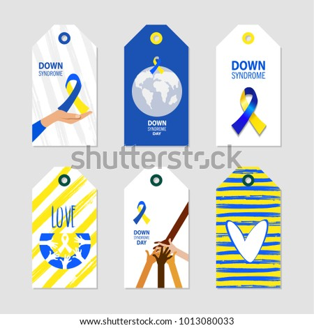 World down syndrome day symbol down stock vector 1013080033 world down syndrome day symbol of down syndrome awareness medical vector illustration health stopboris Images