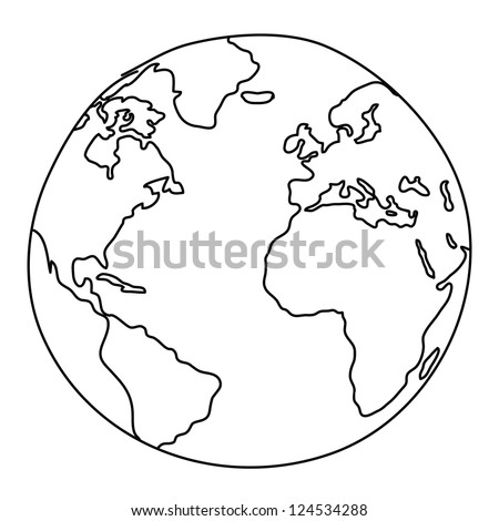 World Drawing - stock vector
