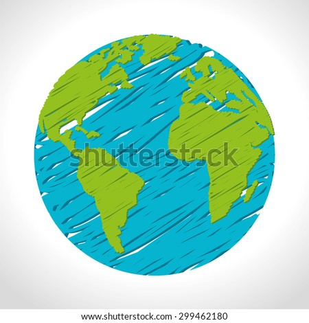 World earth design, vector illustration eps 10.