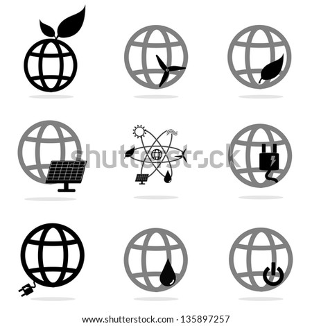 World eco energy icons