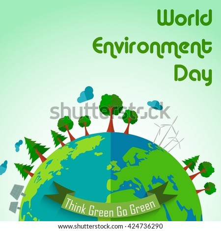 World environment day concept earth globe background.Vector