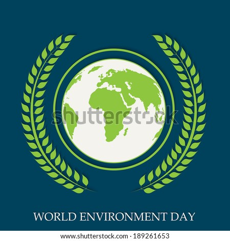 World environment day concept world map stock vector 189261653 world environment day concept with world map globe and beautiful green leaves on blue background gumiabroncs Images