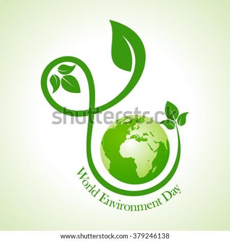 world environment day greeting design vector - stock vector