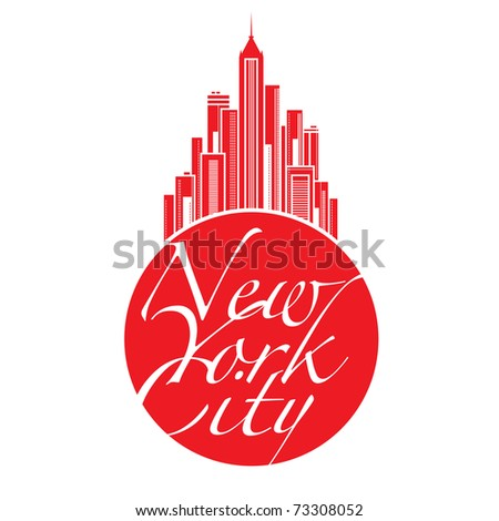 World famous landmark - New York City Big Apple - stock vector