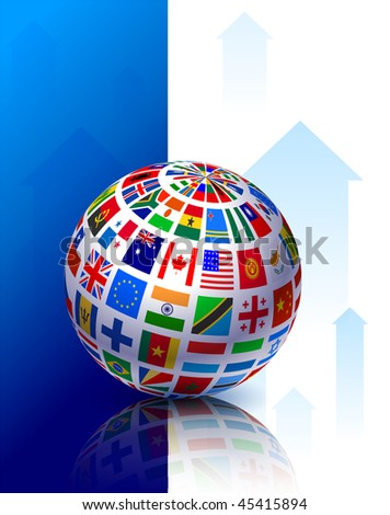 World Flags Internet Background Original Vector Illustration EPS10