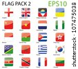 World Flags - Pack 2 Vector - stock vector