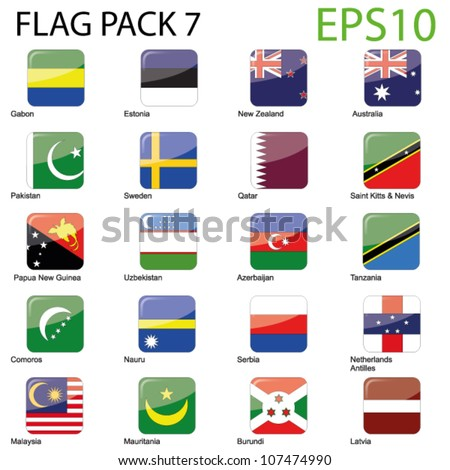 World Flags - Pack 7 Vector