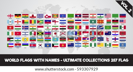 world flags ultimate collection 287 flagのベクター画像素材 593307929