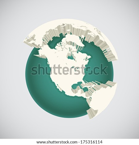 World globe illustration, vector art