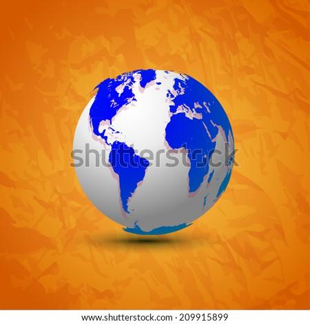 World globe map america africa europe stock photo photo vector world globe map america africa and europe global communication concept vector illustration gumiabroncs Images