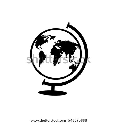World globe. Vector icon.