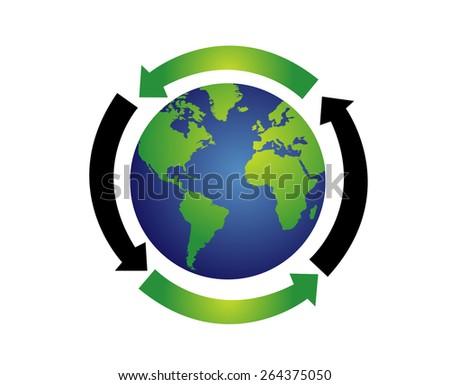 World globe vector illustration - stock vector