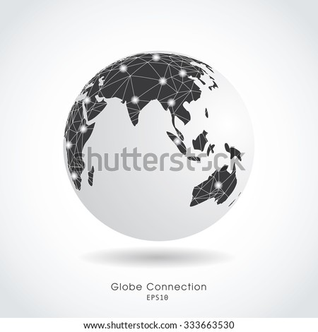 World globe vector illustration. - stock vector