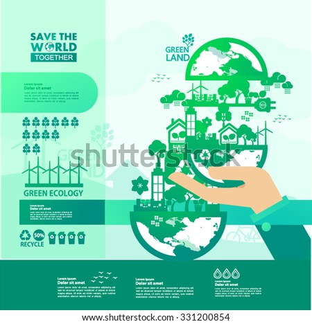 world green planet vector