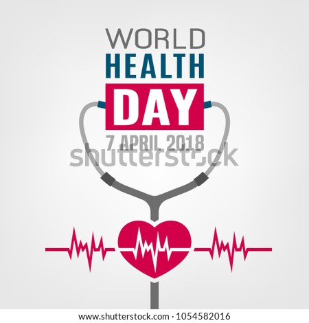 World Health Day Concept 7 April Stock Vector 1054582016