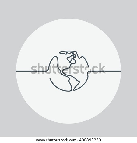 World icon. Earth isolated background. World vector illustration. Earth vector illustration. Earth arrows, lines. Concept network, Internet, global network. Geography. - stock vector