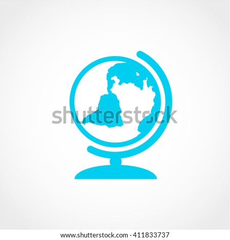 world Icon Isolated on White Background