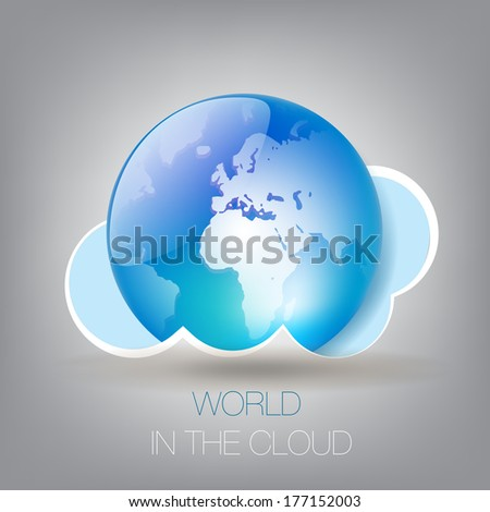 World In The Cloud Concept