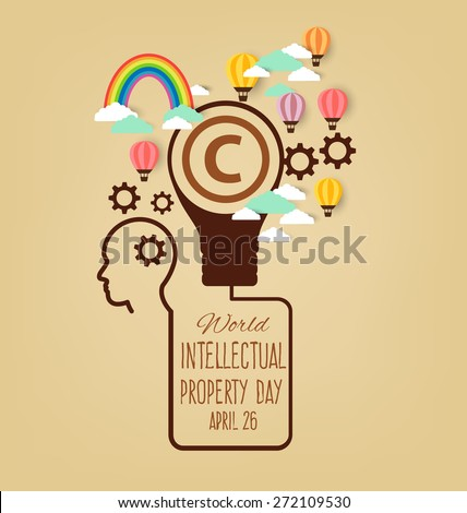 World Intellectual Property Day. vector illustration. - stock vector