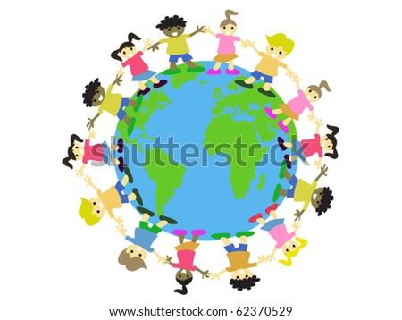 WORLD KIDS - stock vector