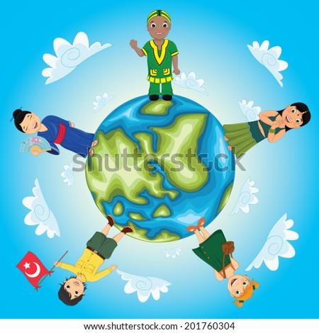 World Kids Vector Illustration - stock vector