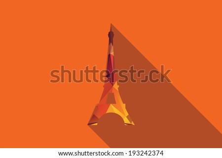 World landmark, Eiffel Tower, Paris, France, Europe, vector illustration - stock vector