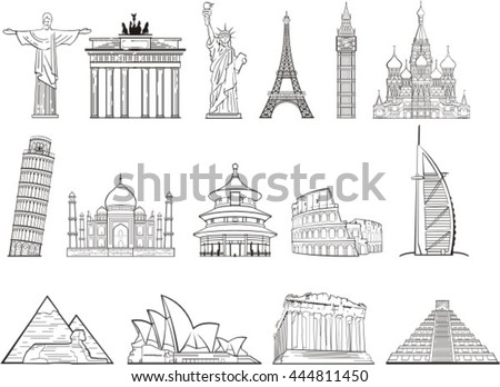 world landmark set