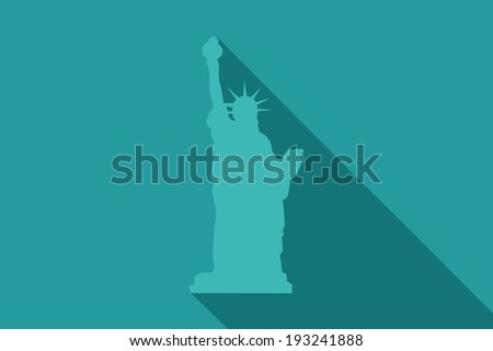 World landmark, Statue of Liberty, New York City, USA, vector illustration