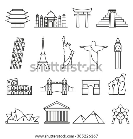how to draw an outline of the world