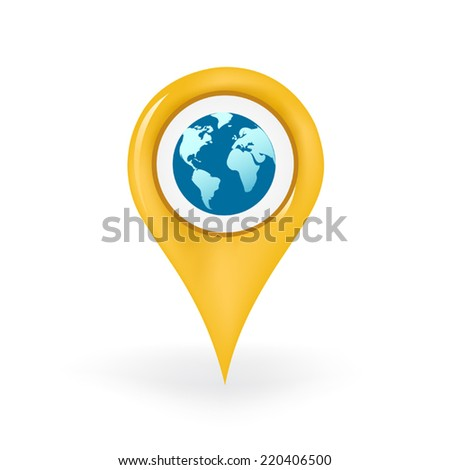 World Location - stock vector